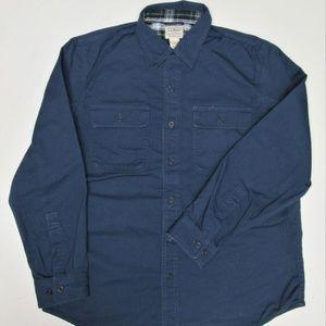 Men's L.L. Bean L/S Cotton & Lined Flannel Shirt